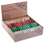Twinkling Christmas Ribbon Spools 1.8m