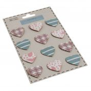 Self Adhesive Canvas Cotton Heart Labels