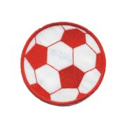 Football Patch Motif  Red