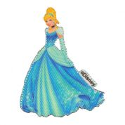 Cinderella Patch Motif  Blue