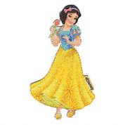 Snow White Patch Motif  Yellow