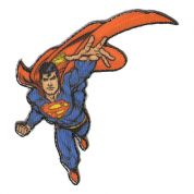 Superman Patch Motif  Red & Blue