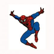 Spiderman Patch Motif  Red & Blue