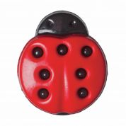 Hemline Red & Black Ladybird Shank Buttons