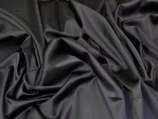 Stretch Sateen Fabric  Black