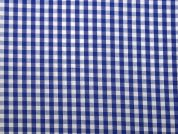 5mm Woven Gingham Check Dress Fabric  Royal Blue