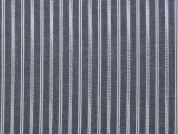 Woven Stripe Poly Cotton Blend Dress Fabric  Blue