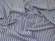 Stripe Chambray Fabric  Blue