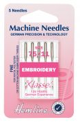 Hemline Embroidery Universal Sewing Machine Needles