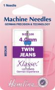 Hemline Universal Twin Jeans Sewing Machine Needles