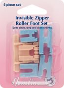 Hemline Invisible Zipper Foot Set for Sewing Machine