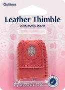 Hemline Leather Thimble for Sewing Multi Use