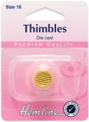 Hemline Gold Plated Thimble