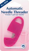 Hemline Auto Needle Threader with Gold Eye Needles