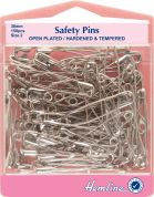 Hemline Open Plated Safety Pins Value Pack