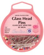 Hemline Glass Coloured Head Sewing Pins