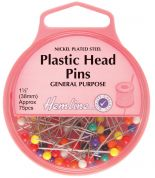Hemline Plastic Head Long Dressmaking Pins