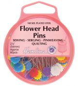 Hemline Long Flower Head Pins