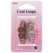 Hemline Metal Coat Loops for Coats & Jackets  Silver & Bronze