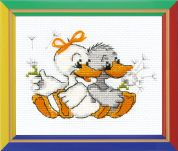 Happy Bee Cross Stitch Kits for Beginners Grandmas merry geese