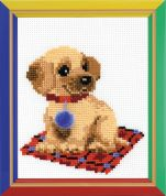 Happy Bee Cross Stitch Kits for Beginners Puppy
