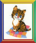 Happy Bee Cross Stitch Kits for Beginners Kitten