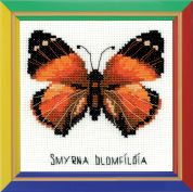 Happy Bee Cross Stitch Kits for Beginners Nymphalidae Butterfly