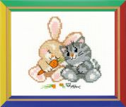 Happy Bee Cross Stitch Kits for Beginners Peace, love, & carrot