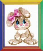 Happy Bee Cross Stitch Kits for Beginners Baby Rabbit