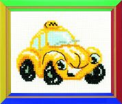 RIOLIS Counted Cross Stitch Kit Taxi