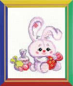 Happy Bee Cross Stitch Kits for Beginners Bunny with a candy
