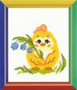Happy Bee Cross Stitch Kits for Beginners Flower chick