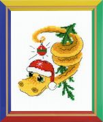 Happy Bee Cross Stitch Kits for Beginners New Years Serpent Dragon