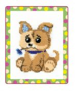 RIOLIS Counted Cross Stitch Kit Toy Puppy