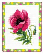 RIOLIS Counted Cross Stitch Kit Pink Poppy