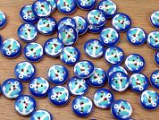 Nautical Anchors Painted Round Wood Buttons