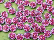 Elephant Painted Round Wood Buttons