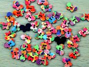 Butterfly Shaped Patterned Enamel Buttons