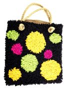 Proggy No Sew Fleece Craft Kit Black Spotty Bag Kit
