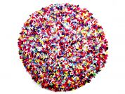 Proggy No Sew Fleece Craft Kit Dolly Mixture Round Cushion Large