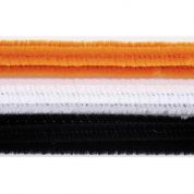 Halloween Chenille Pipe Cleaners  Black, White & Orange