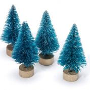 Frosted Sisal Christmas Trees