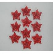 Christmas Shaped Diamante Jewels Poinsettias  Red