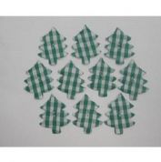 Padded Motif Applique Shapes Christmas Trees  Green