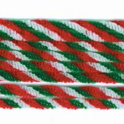 Christmas Twist Chenille Pipe Cleaners  Red, White & Green