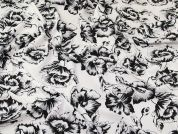 John Kaldor Hermione Microfibre Fabric  Black on White