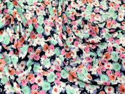 John Kaldor Busy Floral Print Microfibre Dress Fabric  Multicoloured