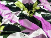 John Kaldor Abstract Print Microfibre Dress Fabric  Lilac & Lime