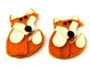 Habico Fox Handmade Felt Embellishments  Orange