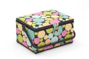 Hobby & Gift Stripy Dots Large Craft Storage Box  Multicoloured